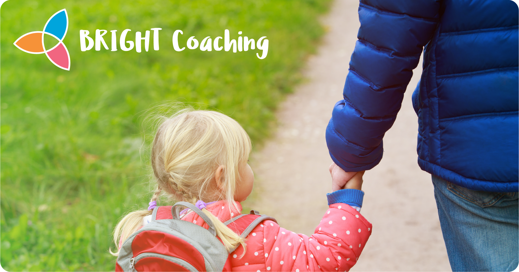 Bright Coaching small child with adult